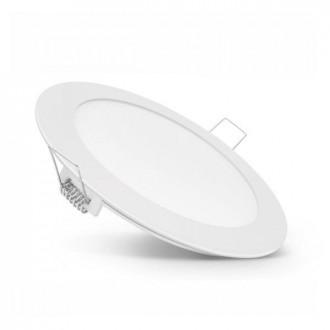 LED panel kruhový vstavaný 6W - 230V - Neutrálna biela